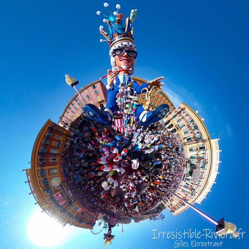 Carnaval Nice 2020 little planet Roi Mode